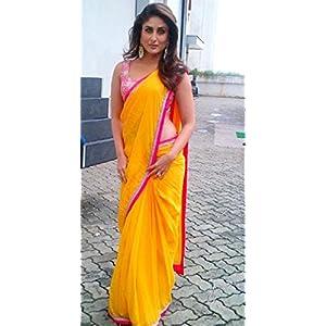 High5Store.com 90702 Kareena Kapoor Saree - Yellow