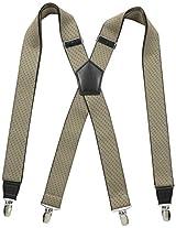 Dockers Men's 35mm Stretch Dot Suspenders, Tan, One Size