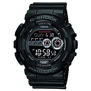 Casio G-Shock Stop-Watch Digital Black Dial Men's Watch - GD-100-1BDR (G310)