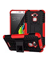 Febelo Branded Kickstand Armor Dual Protection Back Cover Case For Coolpad Note 3 - Red Color
