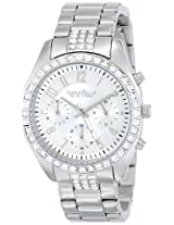 Caravelle by Bulova Crystal Analog Silver Dial Women's Watch - 43L171