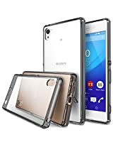 Xperia Z3+ Case - Ringke FUSION ***All New Dust Cap & Drop Protection*** [Free Screen Protector&Back Film][SMOKE BLACK] Premium Crystal Clear Back Shock Absorption Bumper Hard Case for Sony Xperia Z3+ / Z3 Plus (Not for Z3 / Z3 Compact / Z3 Dual / Z3v / Z3 Tablet) - Eco/DIY Package