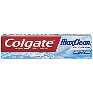 Colgate MaxClean Effervescent Mint Toothpaste, 6 Ounce (Pack of 2)