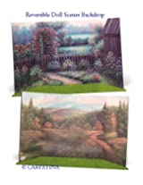 Doll Scene Backdrop - Reversible Summer to Fall - Fits 18