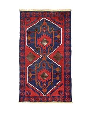 Eden Teppich Beluchistan rot/blau 82 x 141 cm