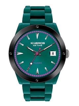 K&BROS 9556-4 / Reloj Unisex  con correa de caucho Verde
