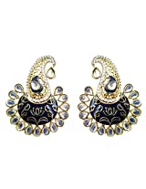 Dhwani Creation Drop Alloy Earrings For Girls and Women (Blue)