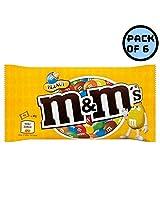 M&M's Chocolate Peanut Sugar Shell, 45 Grams (Pack of 6)