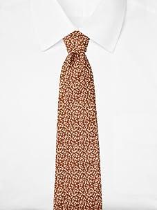Hermès Men's Leaf Tie, Brown, One Size