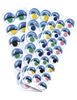 Creativity Street Peel and Stick Wiggle Eyes Painted 49-Piece Assorted Sizes