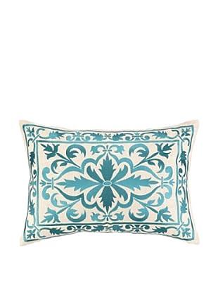Peking Handicraft Buckingham Pillow, Aquamarine