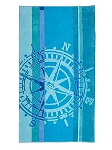 Arkhipelagos Wheel Beach Towel (Blue)