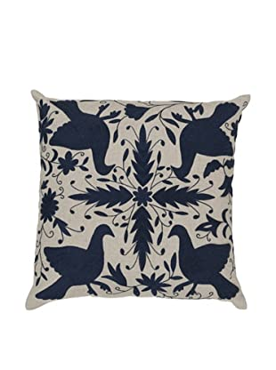 Surya Patterned Throw Pillow (Dark Denim)