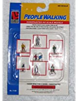 Life Like 1188 HO Scale Hand Painted Figures (People Walking) Compatible To Hornby, Roco & Piko Etc Ho/Oo Gauge)