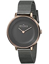 Skagen Ditte Analog Grey Dial Women's Watch - SKW2277