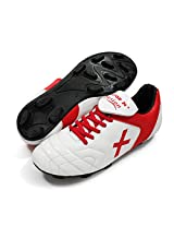 Vector X Fusion 002-M Football Shoes, Men's UK 9 (White/Red)