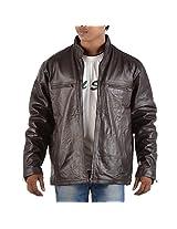 Yas Fashions Men's Regular Fit Leather Winter Jacket ( Y04-XXXXX Large_Brown_XXXXX-Large )