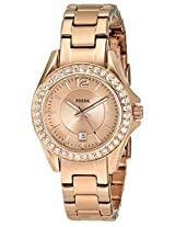 Fossil Analog Gold Dial Women's Watch - ES2889