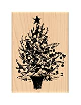 "Penny Black Mounted Rubber Stamp 3.5""X5"" Festive Tree"