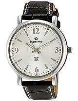 Maxima Attivo Steel Analog Silver Dial Men's Watch - 24233LMGI