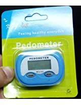Pedometer LCD Step Calories Counter, White