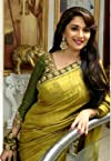Madhuri Dixit Yellow Green Bollywood Saree