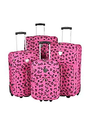 TRAVEL WORLD 4er Set Trolley, halbstarr