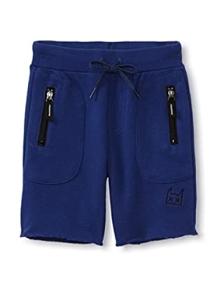 Munster Kid's In A Blue French Terry Track Shorts (Blue)