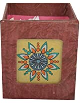 Artistic Handicrafts Paper Holder (10 cm x 9 cm x 9 cm, Brown)