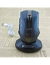 Wireless Rechargeable Mouse USB 2.4ghz 1600 DPI Optical Mini Car Styling Gaming Mice and USB Hub(White)