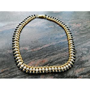 Two hole kundan anklet