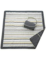 JJ Cole  Outdoor Blanket,Gray/Green, 5' x 5'