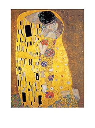 Artopweb Panel Decorativo Klimt Der Kuss 70x50 cm Bordo Nero