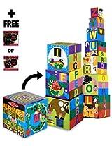 Alphabet Nesting & Stacking Blocks 10-Piece Play Set + FREE Melissa & Doug Scratch Art Mini-Pad Bund
