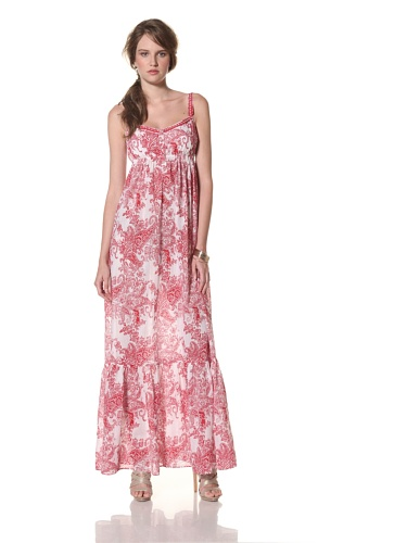 COLLETTE BY COLLETTE DINNIGAN Women's Shoestring Maxi Dress (Red)