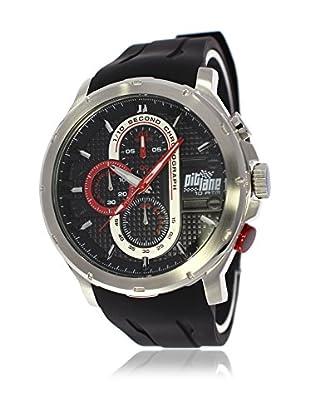Pit Lane Uhr mit Miyota Uhrwerk Pl-1014-1 schwarz 45 mm