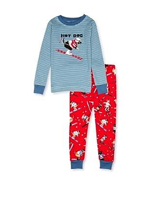 Hatley  Pijama Idalion (Rojo / Azul)