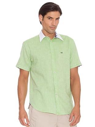 Pedro Del Hierro Camisa Jaspeada (Verde)