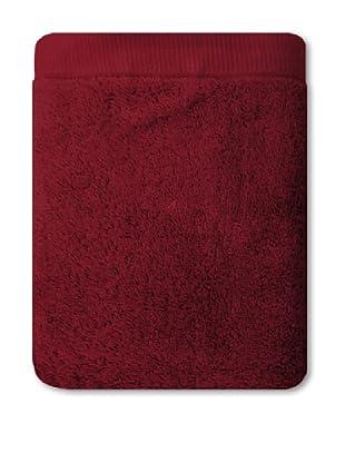 Manterol Set Toallas + Alfombra Baño Rizo Algodón (Rojo)