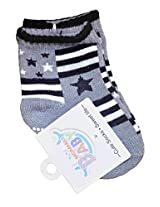 Baby Socks - Unisex - (3 months& above) Grey Black
