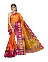 Korni Cotton Silk Banarasi Saree ISL-2500- Orange KR0427
