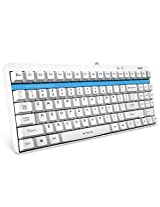 Auawak Rapoo V500 Full Keys Programmable PRO Mechanical Gaming Keyboard With 2mm Trigger Stroke and Original Factory MX Yellow Switches for Laptops Desktops PC - White