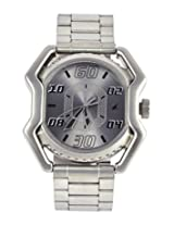 Fastrack Designer 3112SM01 Silver Analogue Watch - For Men