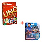 Uno Cards + Hotwheel Team Xtreme Car (Color May Vary)