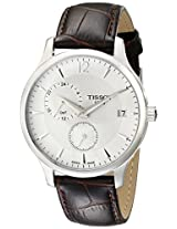 Tissot Men's T0636391603700 Tradition GMT Analog Display Quartz Brown Watch