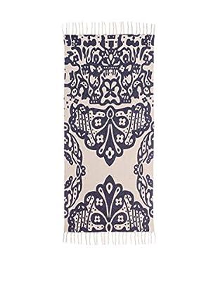 Concept Luxury Teppich Fringes blau/weiß