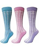 100816_TuffRider Gingham Check 3 Pack Socks
