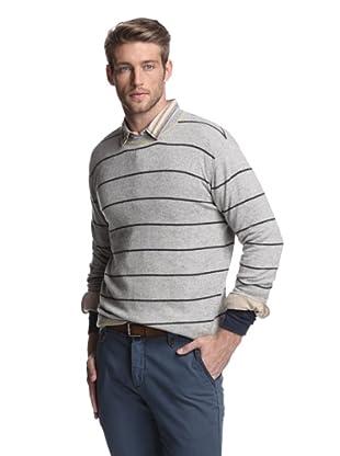 Kokun Men's Tipped Stripe Crewneck Sweater (Canary Combo)