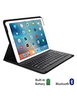 iPad Pro Keyboard Case, GMYLE Ultra Slim Stand Folio Case with Integrated Bluetooth Keyboard and Auto Wake/Sleep Function Cover for iPad Pro - Black