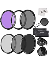 Neewer 10083801 67mm Must Have Lens Filter Accessory Kit for CANON Rebel T5i T4i T3i T3 T2i, EOS 700D 650D 600D 550D 70D 60D 7D 6D DSLR Cameras with 18-135MM EF-S IS STM Zoom Lens - Includes: 67MM Filter Kit (UV, CPL, FLD) + ND Neutral Density Filter Set (ND2, ND4, ND8) + Carrying Pouch + Collapsible Lens Hood + Tulip Lens Hood + Snap-On Front Lens Cap + Cap Keeper Leash + Microfiber Cleaning Cloth